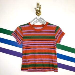NEW urban outfitters striped crop top